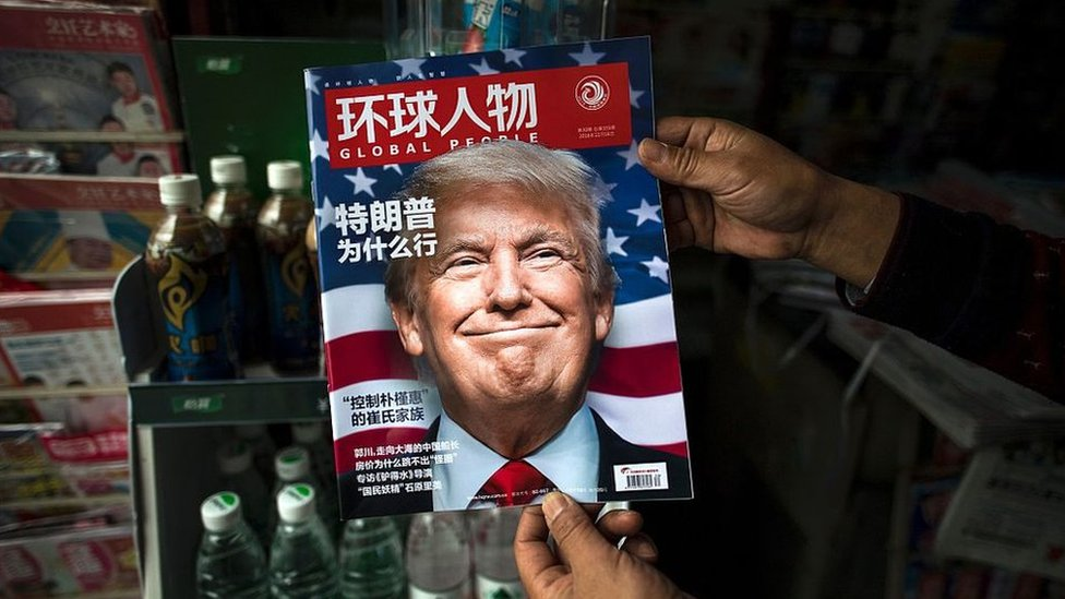 Trump en la portada de una revista china