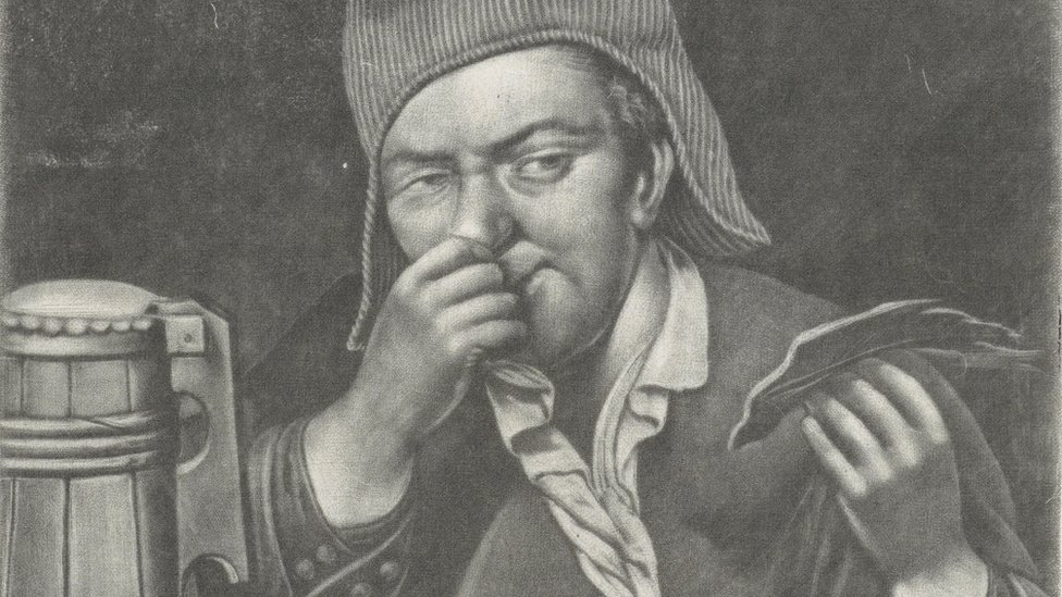 Picture from 1680 depicting smell