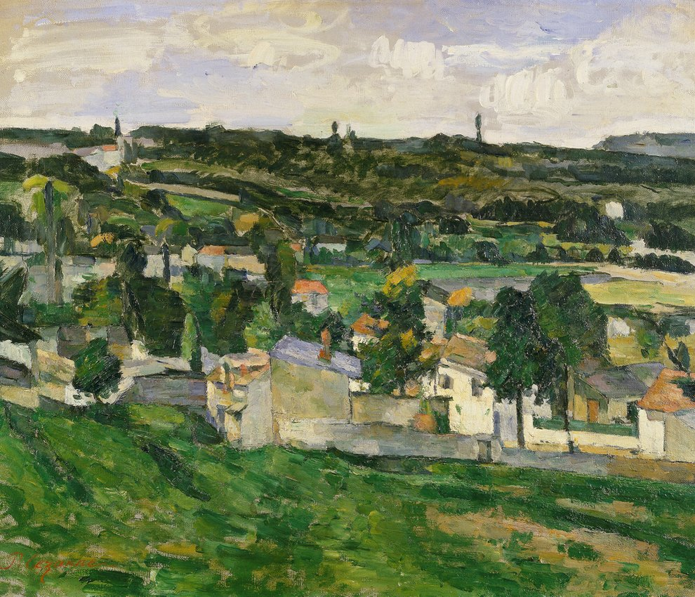 Near Auvers-sur-Oise, de Paul Cezanne