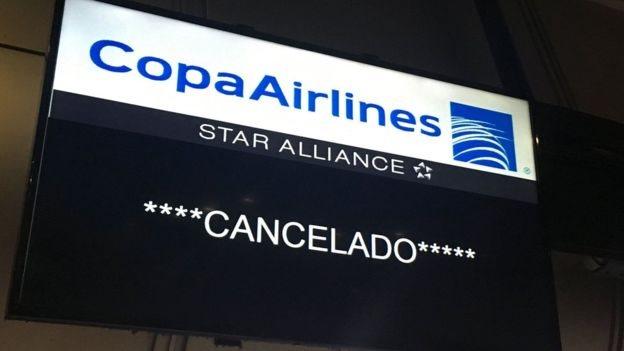 Vuelo cancelado de Copa