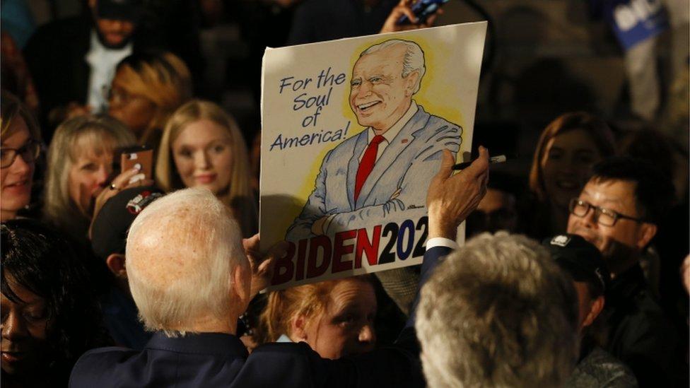 Joe Biden en Carolina del Sur.