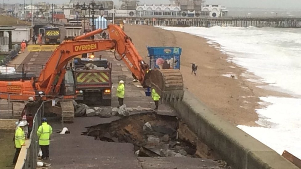 Work on Portsmouth seafront