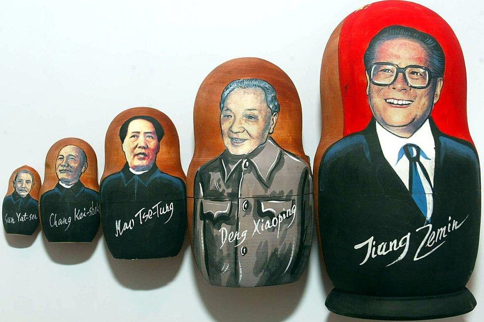 Jiang Zemin Matryshyoka dolls