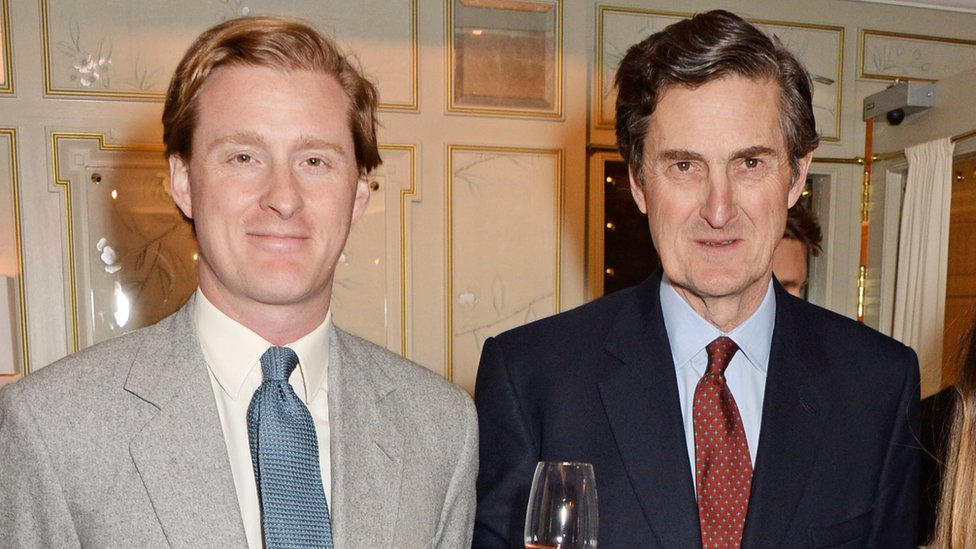Sir Philip Naylor-Leyland (R) pictured with son Tom at an event in London in 2014