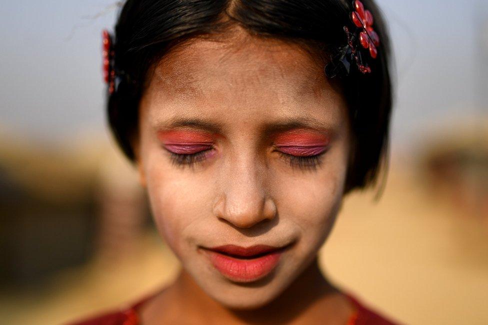 فتاة من اللاجئات الروهينغا في مدينة كوكس بازار