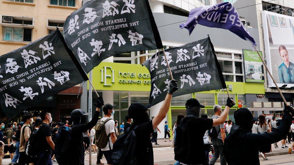 """北京政府強調香港《國安法》針對極少數嘗試破壞中國""""國家安全""""的人,但外界質疑北京當局繞過香港立法會設立《國安法》的做法。"""