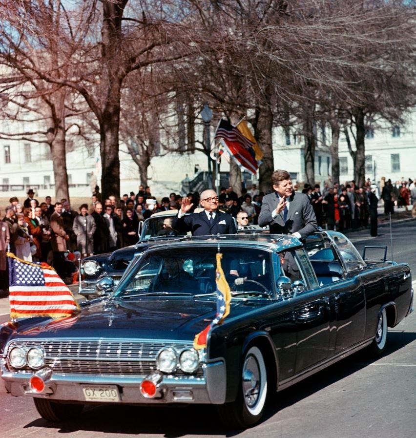 Rómulo Betancourt junto a John F. Kennedy