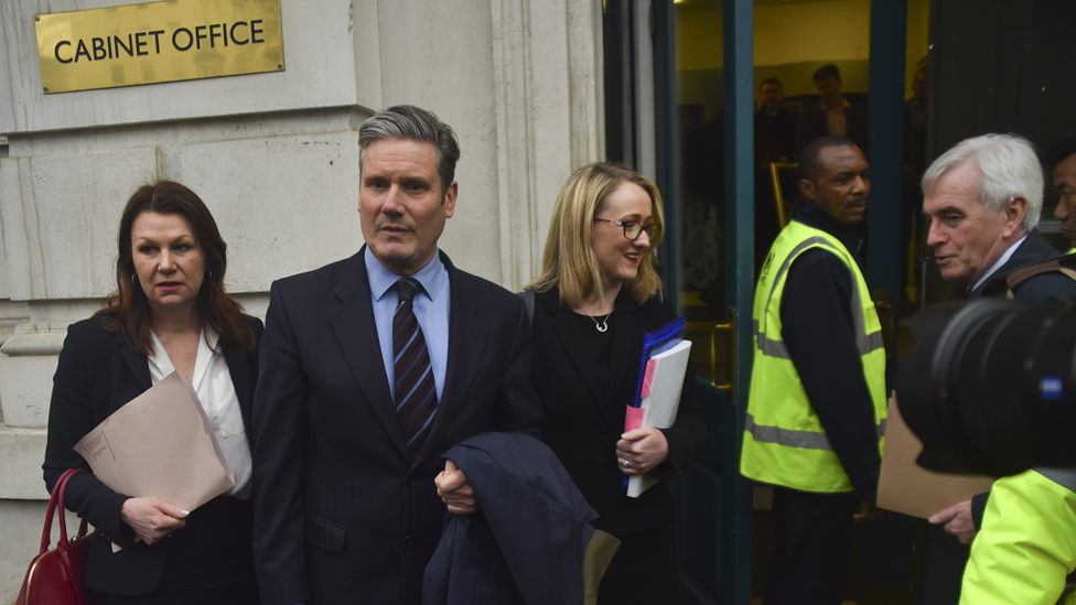 Labour MPs going into Brexit talks with government, 9 Apr 19