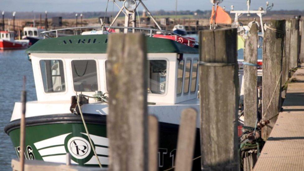 Fishing boats at Great Yarmouth
