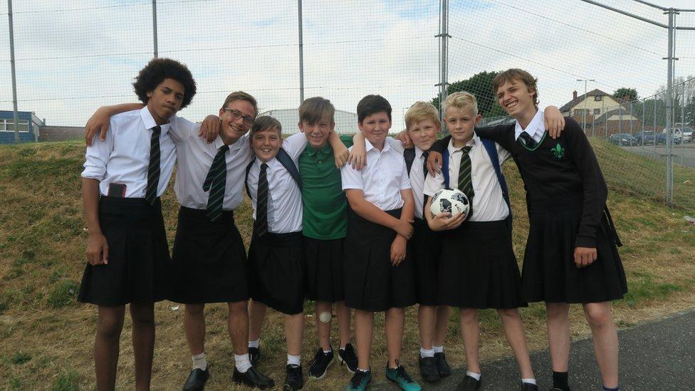 Devon skirt demo boys can now wear shorts