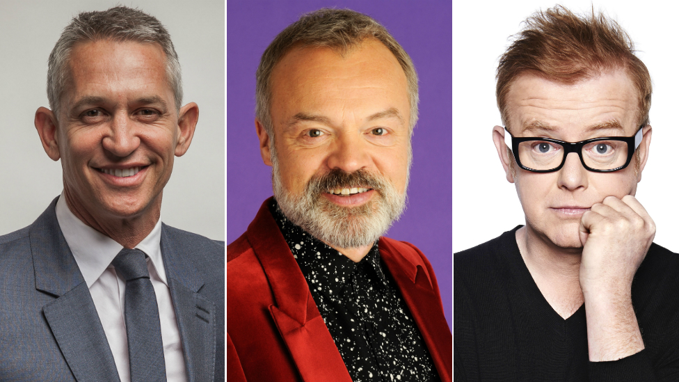 Gary Lineker, Graham Norton and Chris Evans