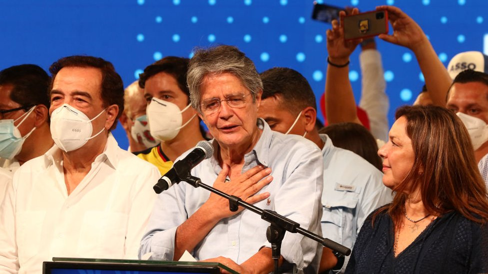 Guillermo Lasso, tras ganar las elecciones.