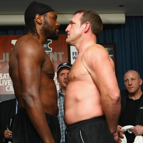 Audley Harrison and Martin Rogan