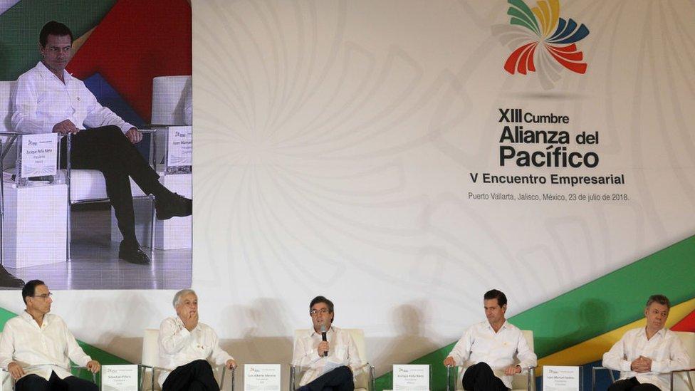 Reunión de la Alianza del Pacífico en 2018.