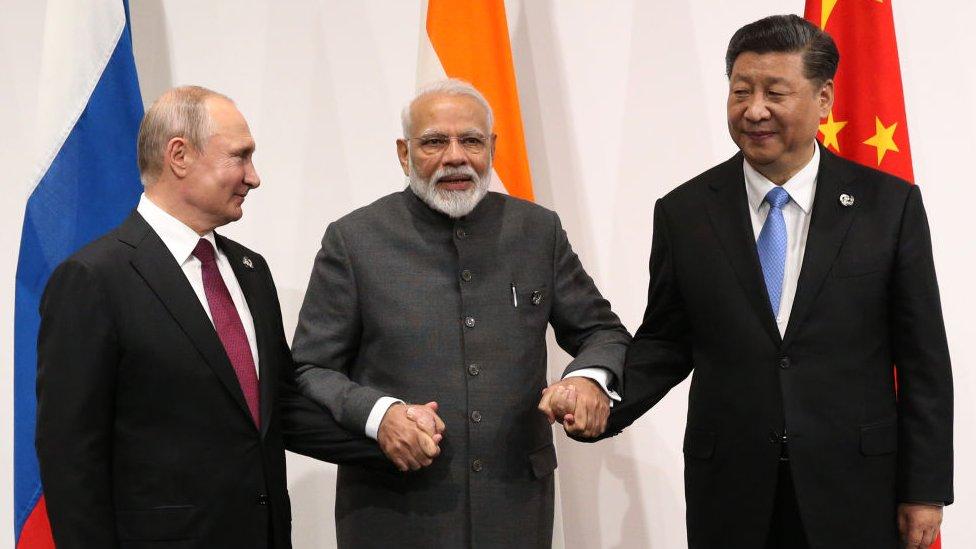 Putin, Xi y Modi