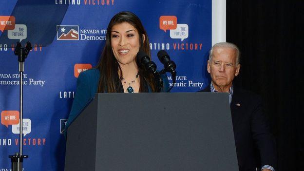 Lucy Flores and Joe Biden