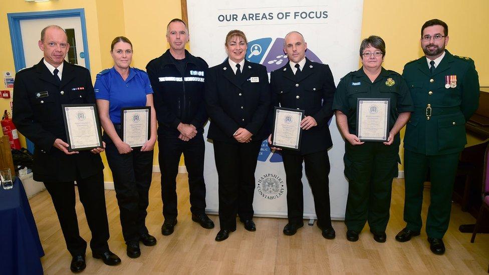 Isle of Wight plane crash: Crews honoured for Bembridge rescue