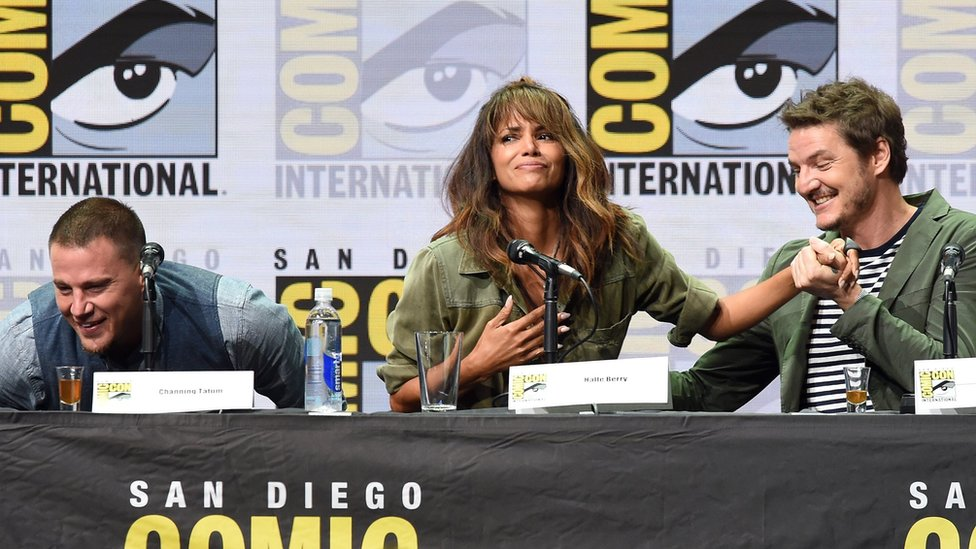 Channing Tatum, Halle Berry and Pedro Pascal