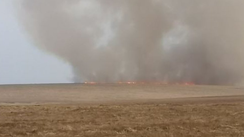 Moorland fires: Dartmoor crews tackle 12 blazes