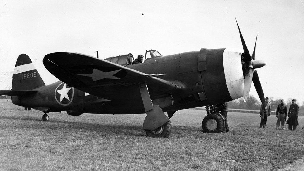 P-47 Thunderbolt in 1942