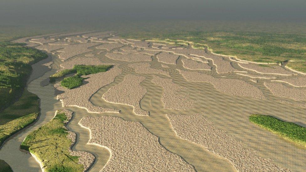 Doggerland flood plain, artist's impression