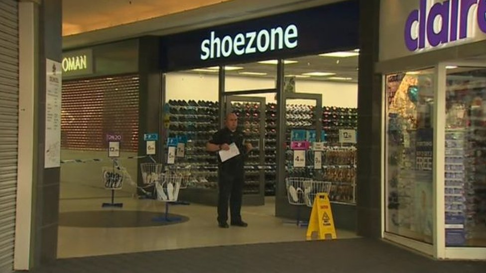 Man arrested over Bangor Shoe Zone armed robbery