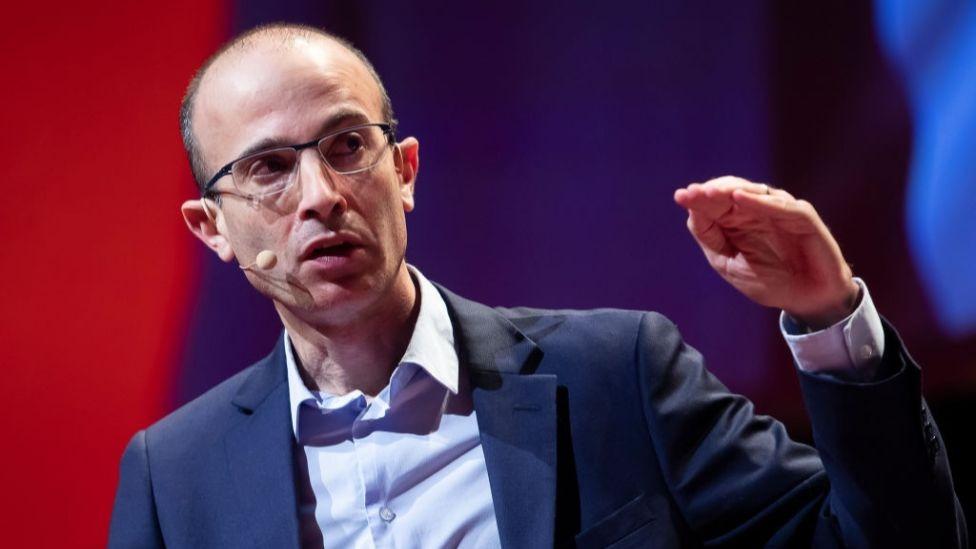 Historian Yuval Noah Harari during a talk in January 2020