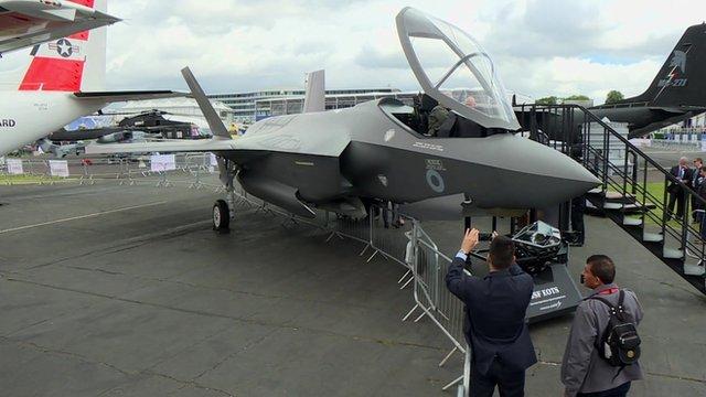 F35 on display at Farnborough
