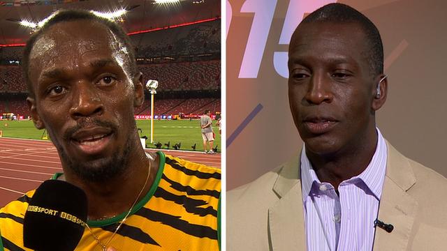 Sprint greats Usain Bolt and Michael Johnson