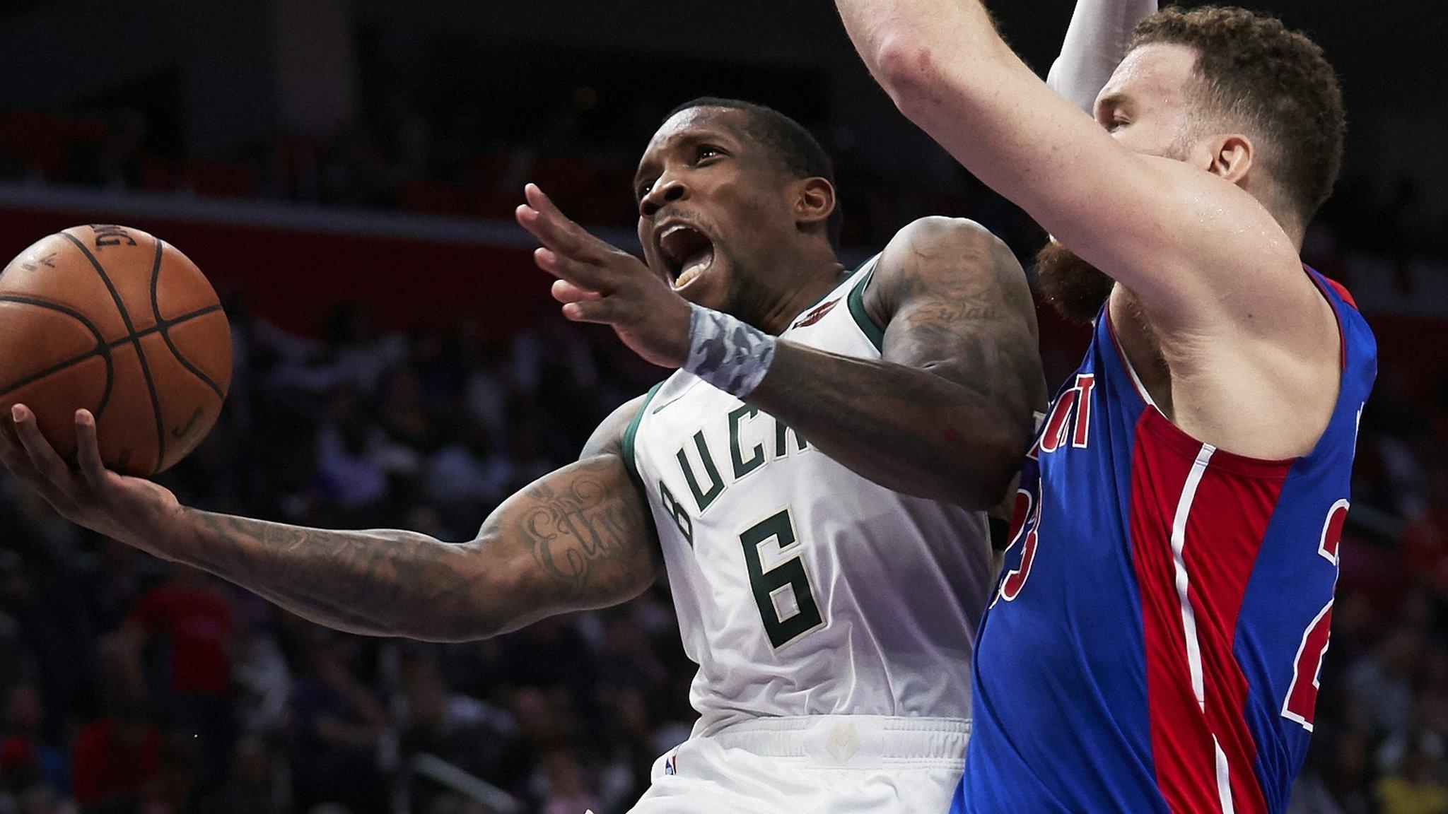 NBA play-offs: Milwaukee Bucks win to set up Boston Celtics semi-final