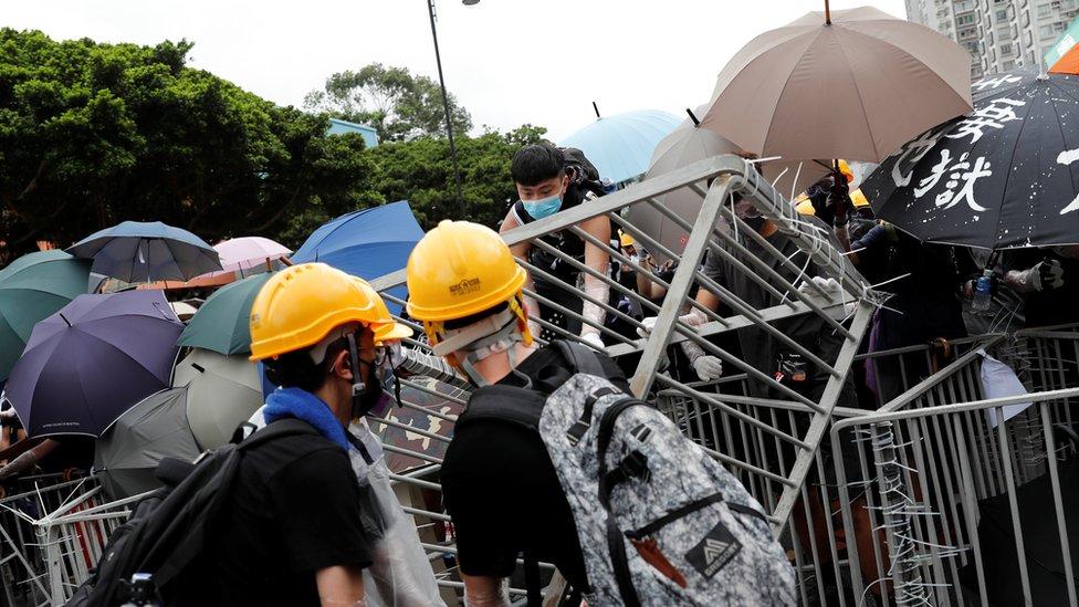 Demonstrasi di Hong Kong