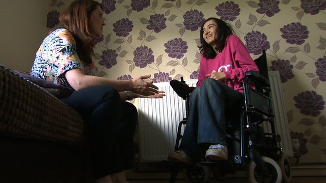 Disabled fan Vicky