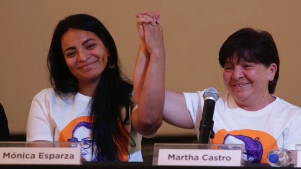 Mónica Esparza y su madre Martha