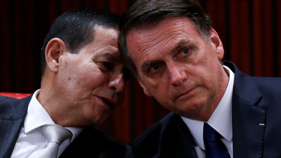 Mourão y Bolsonaro