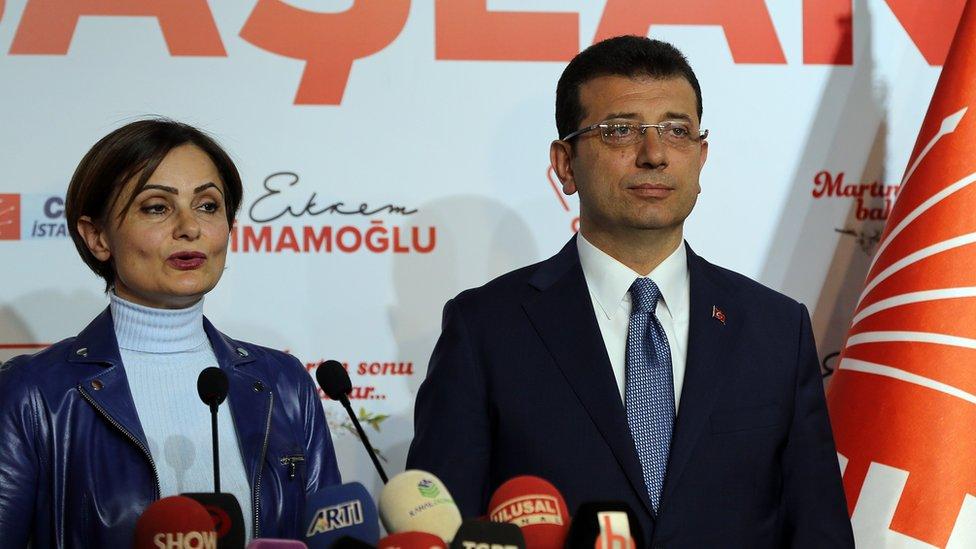Canan Kaftancıoğlu ve Ekrem İmamoğlu