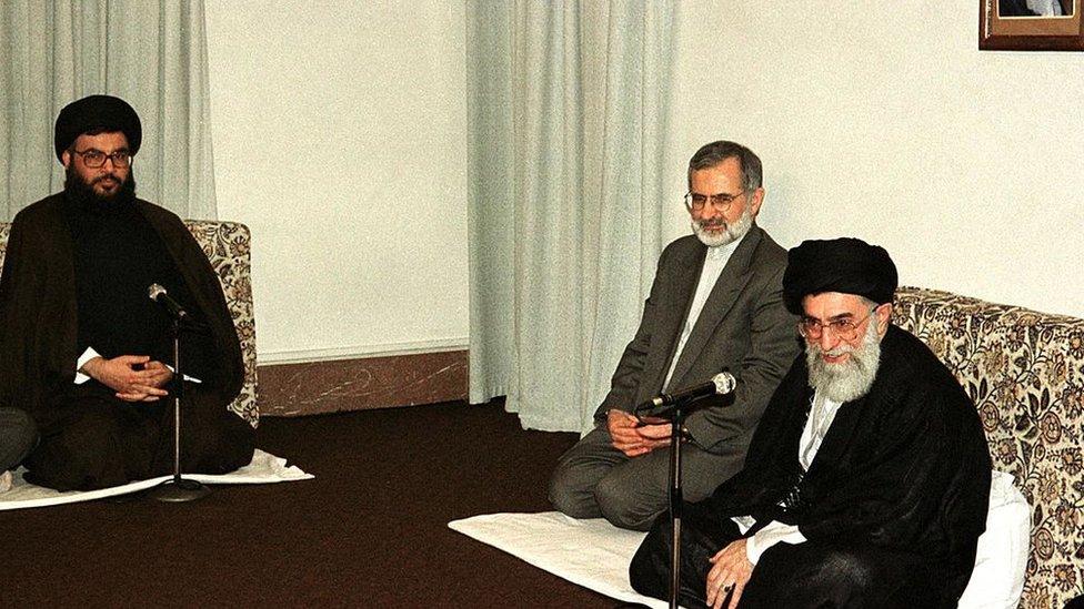 El líder supremo iraní reunido con el jefe de Hezbolá Hassan Nasrallah.