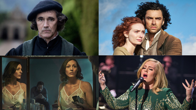 (Clockwise from top left) Wolf Hall, Poldark, Doctor Foster and Adele at the BBC