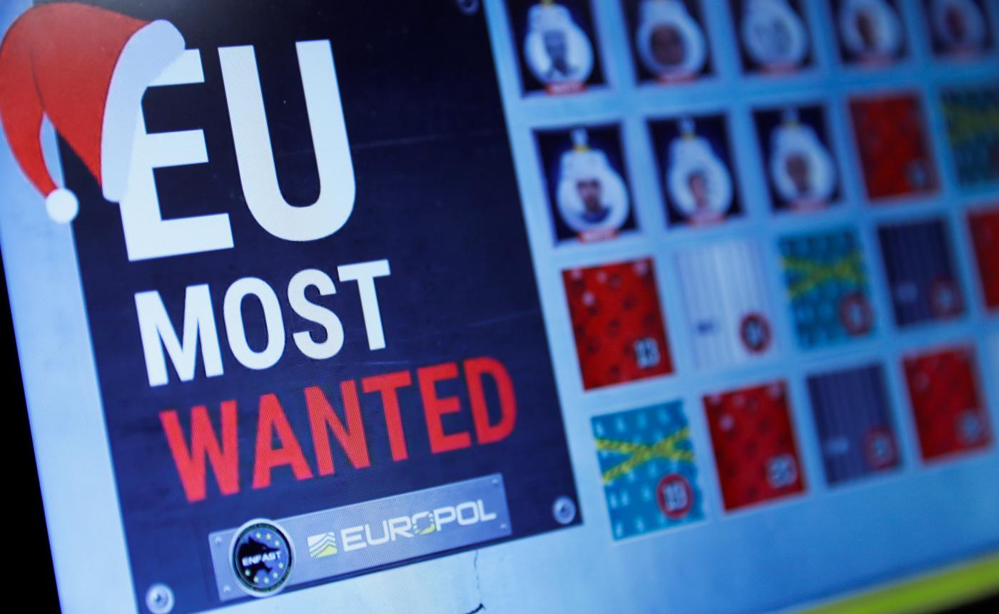 "Europol's ""most wanted"" advent calendar, 2016"