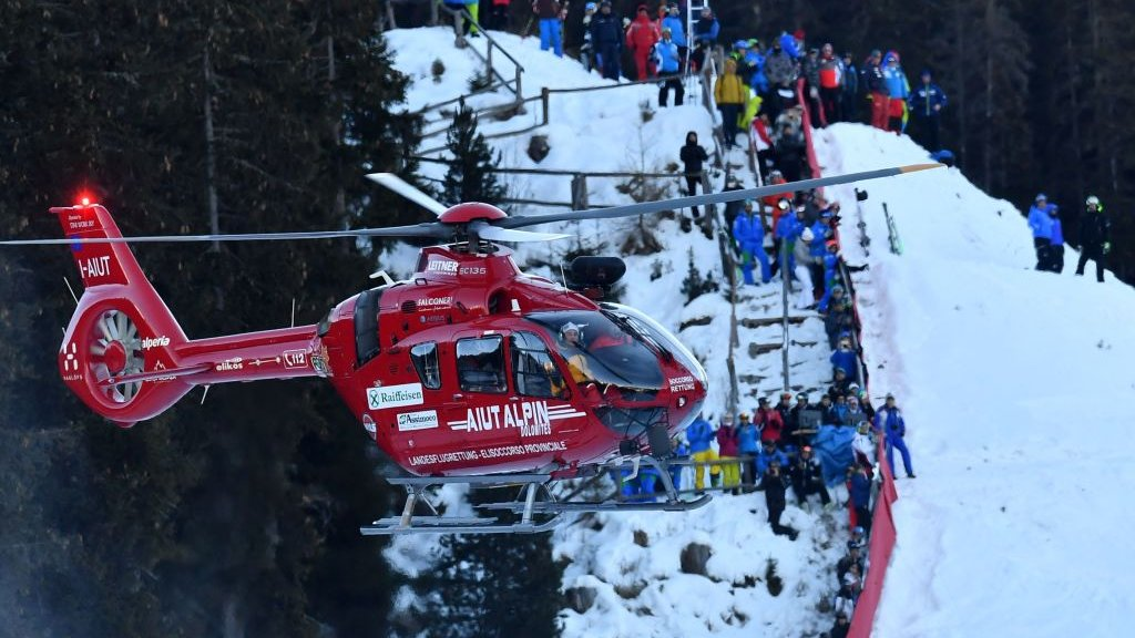 Marc Gisin: Skier 'continues to stabilise' after World Cup crash in Italy