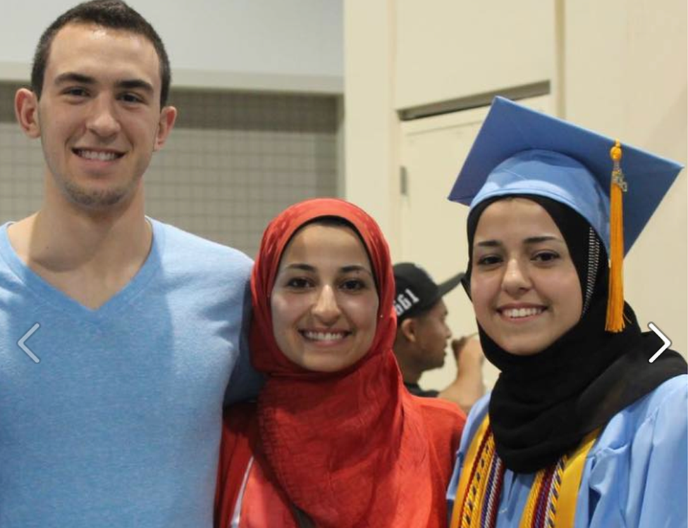 Deah Barakat, Yusor Mohammad Abu-Salha and Razan Mohammad Abu-Salha were killed in February 2015