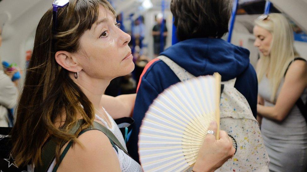 Heat on London Underground