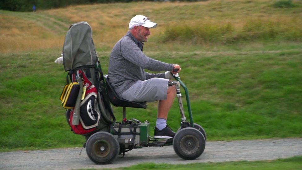 Paul Houghton on buggy
