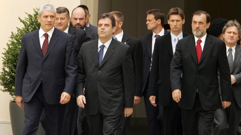 Tadić, Koštunica, Drašković, Beč, 24. jul 2006.