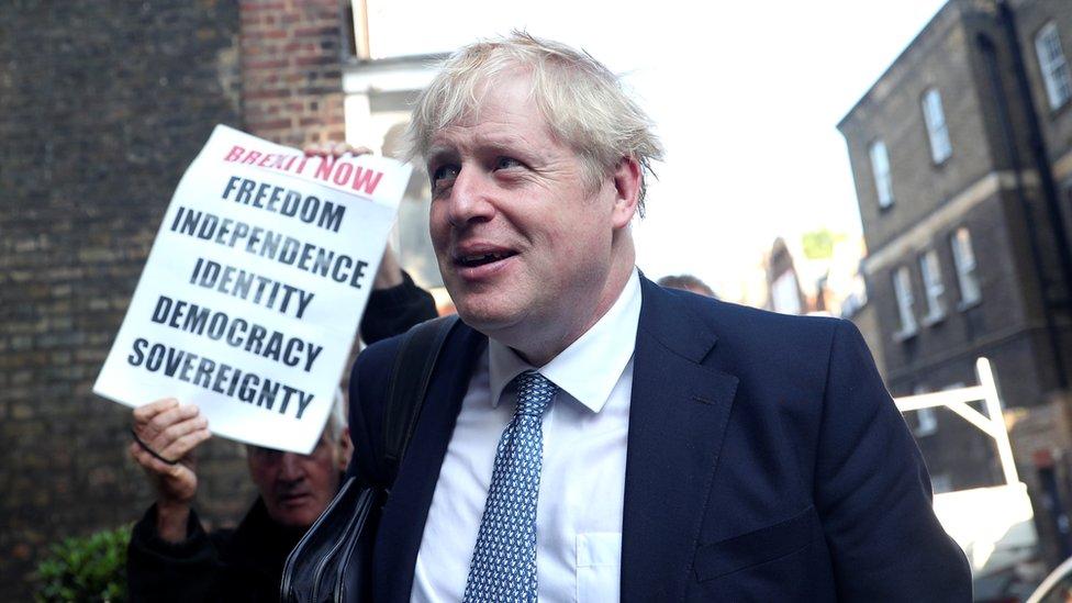 Boris Johnson, líder del Partido Conservador