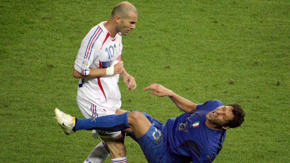 Zinedine Zidane y Marco Materrazzi