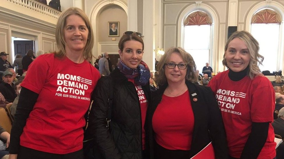 Moms Demand Action Activists at the hearing