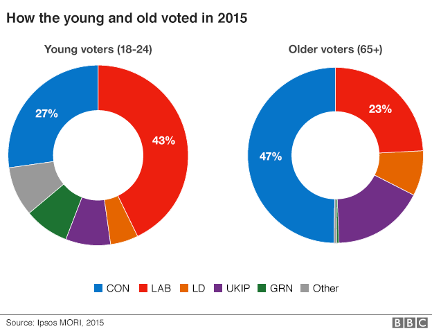 How the young and old voted in 2016