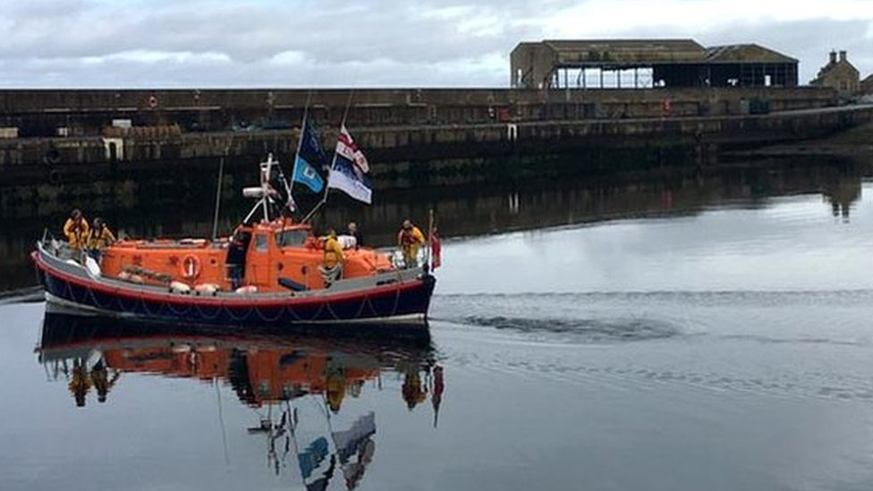 Restored old lifeboat returns home to Buckie