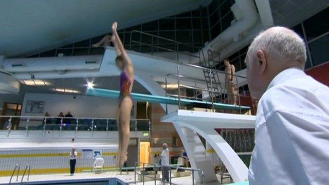 Swimming coach Derek Beaumont