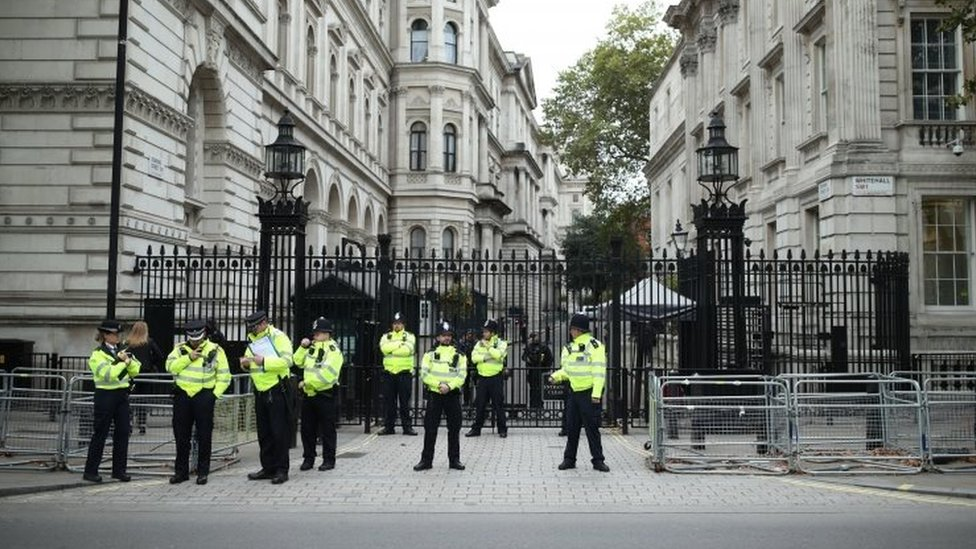 Police at Downing Street